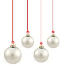 Grijze de bal van Kerstmis Royalty-vrije Stock Foto