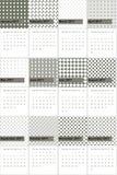 Grijze de frater en Siam kleurden geometrische patronenkalender 2016 Stock Foto