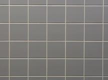Grijze de tegelachtergrond van de badkamersmuur stock foto