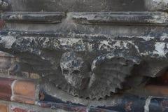 Grijze details voor de kerkbouw Stock Foto