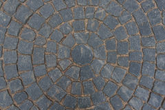 Grijze die straatsteen met een patroon wordt bedekt Royalty-vrije Stock Fotografie