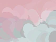 Grijze en roze wolken Royalty-vrije Stock Foto's