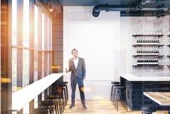 Grijze en witte bar met een gestemde affiche Royalty-vrije Stock Fotografie