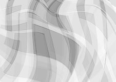 Grijze en witte overlappings geometrische abstracte vectorachtergrond, Grafisch ontwerp met exemplaarruimte Stock Fotografie