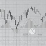 Grijze financiënachtergrond Royalty-vrije Stock Foto