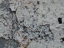 Grijze gebarsten verf op een oude muur Royalty-vrije Stock Afbeeldingen
