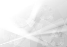 Grijze geometrische technologie abstracte achtergrond royalty-vrije illustratie