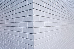 Grijze geschilderde brickwall achtergrond Stock Afbeeldingen