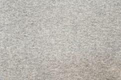 Grijze gestreepte de stoffentextuur van Jersey Royalty-vrije Stock Afbeeldingen