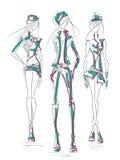 Grijze groen van het meisjesjasje stock illustratie