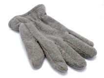 Grijze handschoen Royalty-vrije Stock Foto's