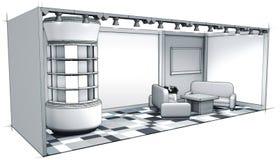 Grijze het ontwerp van de tribunetentoonstelling Royalty-vrije Stock Foto's