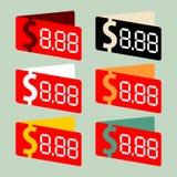 Grijze het winkelen etiketten Royalty-vrije Stock Fotografie