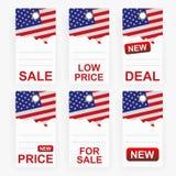 Grijze het winkelen etiketten Royalty-vrije Stock Afbeelding