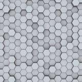 Grijze hexagon honingraten abstracte achtergrond stock afbeeldingen