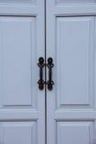 Grijze houten deur Royalty-vrije Stock Afbeelding