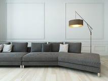 Grijze laag en staande lamp tegen witte muur stock illustratie afbeelding 41133779 - Grijze en rode muur ...