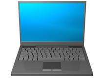 Grijze laptop computer Royalty-vrije Stock Foto's