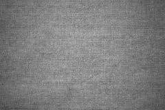Grijze linnentextuur Stock Foto