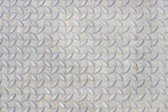 Grijze metaaloppervlakte met dwarspatroon Royalty-vrije Stock Foto's