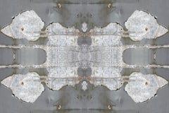Grijze metaalpoort met schilverf Royalty-vrije Stock Fotografie