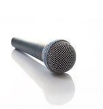 Grijze microfoon Stock Afbeelding
