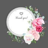 Grijze modieuze bloemen vectorontwerpkaart Royalty-vrije Stock Fotografie