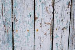 Grijze oude houten omheining Royalty-vrije Stock Afbeelding