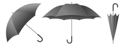 Grijze paraplu vectorillustratie royalty-vrije illustratie