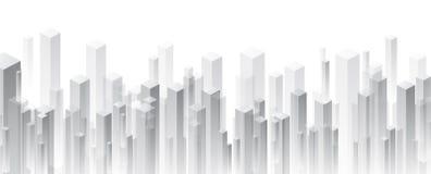 Grijze perspectief 3d geometrische achtergrond royalty-vrije illustratie