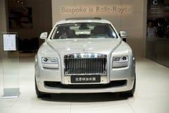 Grijze rolls-royce gusteau uitgebreide uitgavenauto Royalty-vrije Stock Fotografie