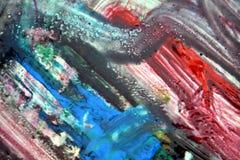 Grijze roze donkere verf, zachte mengelingskleuren, het schilderen vlekkenachtergrond, waterverf kleurrijke abstracte achtergrond Royalty-vrije Stock Foto