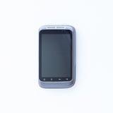 Grijze smartphone op een witte achtergrond Stock Afbeelding