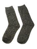 Grijze sokken stock afbeeldingen