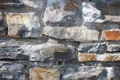 Grijze steenmuur als achtergrond Stock Afbeelding