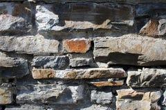 Grijze steenmuur als achtergrond Royalty-vrije Stock Foto's