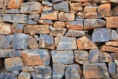 Grijze steenmuur. Textuur. royalty-vrije stock afbeeldingen