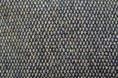 Grijze stoffentextuur van ruwe jute knitting royalty-vrije stock afbeelding