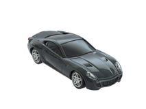 Grijze stuk speelgoed geïsoleerde sportwagen Stock Afbeelding
