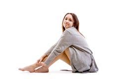 Grijze sweater Stock Foto's