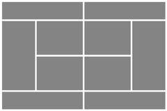 Grijze tennisbaan stock illustratie