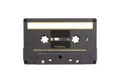 Grijze uitstekende audiocassetteband Stock Foto's