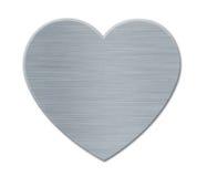 Grijze Valentines het Hart van de Dag met de Textuur van het Metaal royalty-vrije illustratie