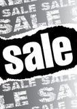 Grijze verkoopaffiche Royalty-vrije Stock Afbeeldingen