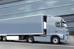 Grijze vrachtwagen stock foto
