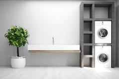 Grijze wasserijruimte, gootsteen vector illustratie
