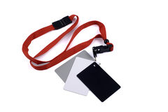 Grijze wit en blackcard Royalty-vrije Stock Foto