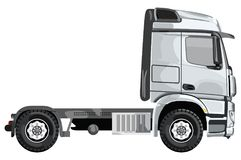 Grijze zijvrachtwagen royalty-vrije illustratie