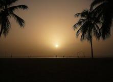 Grijze zonsondergang Royalty-vrije Stock Afbeelding