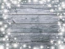Grijze, zwart-wit houten textuur Geheimzinnige Kerstnacht Wi royalty-vrije stock foto